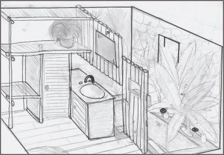 croquis dessin interieur maison. Black Bedroom Furniture Sets. Home Design Ideas